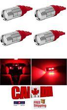 4x T10 194 168 10SMD 4W 5630 Red LED Projector Signal Light Bulbs Car