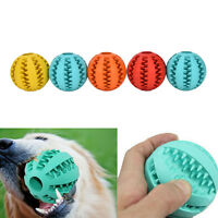Rubber Ball Chew Treat Cleaning Pet Dog Puppy Cat Toy Training Dental Teething H