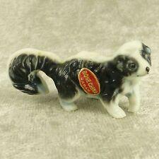 "Vintage Miniature Bone China Skunk Figurine Matte Forest Woodland Animal 1"" Tall"