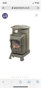 BROWN PROVENCE CALOR PORTABLE MOBILE HEATER COMPLETE With  GAS BOTTLE & REG