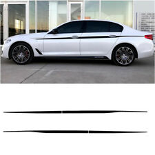 Carbon Fibre style Stripes Decals Car body side Sticker for BMW G30 G31 5 Series