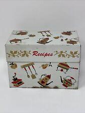 Vintage Ohio Art TIN RECIPES BOX Retro Kitchen Images