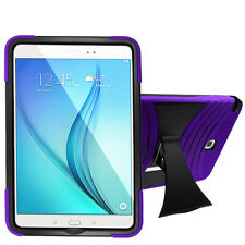 For Samsung Galaxy Tab A 9.7 Inch T550 TABLET Silicone + Hard Cover Case Purple