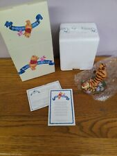 "Disney Pooh and Friends Tigger ""Thanks A Big Bouncy Bunch"" Figurine new open box"