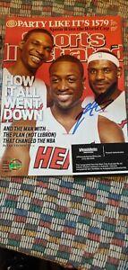 Lebron James Autographed Sports Illustrated coa