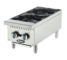 """Atosa Athp-12-2 Two Burner Commercial Hot Plate Countertop Lpg Hd 12"""""""