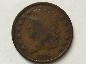 1835 Classic Head Half Cent Copper U.S. Type Coin A3133