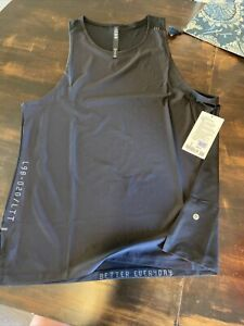 NWT Men's Lululemon License To Train Tank Black BLK Size XL