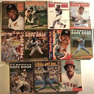 1971-1981 BASEBALL Dope Book Lot 11 HANK AARON Thurman MUNSON Jim RICE Carlton