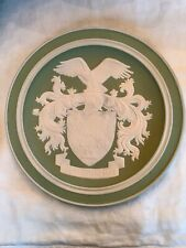 The Franklin Mint Green Jasperware Porcelain Plate Eagle 9�