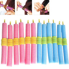 Fashion Women and Girl 12pcs/set Soft Foam Anion Bendy Hair Rollers Curler Cling