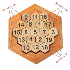 Wooden Toys Honeycomb Shaped Match Number Game Intellectual Development