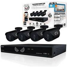 BEST! Night Owl 8 Channel 1080p HD Analog Video Security System TB HDD 4 Cameras