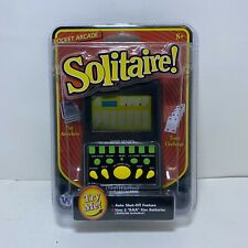 Handheld SOLITAIRE Electronic Pocket Arcade Hand Held Travel Card Game Toy