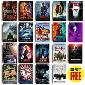 2010s MOVIE POSTERS A - E A3 / A4 Size Photo Print Film Cinema Wall Fan Art