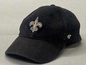 Kids New Orleans Saints - Black Adjustable Hat Cap ('47 Brand)