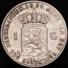 More details for 1854   netherlands willem iii 1 gulden   silver   coins   km coins