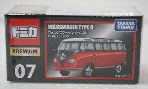 Takara Tomy Tomica Premium 07 Volkswagen Type II Transporter Samba Bus Model