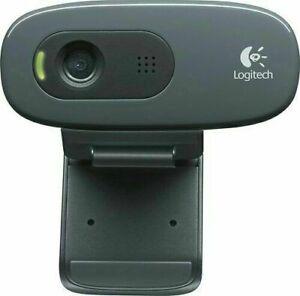 Logitech HD Webcam C270 HD 720p Mic-Black - Free Shipping NEW IN (SEALED BOX)