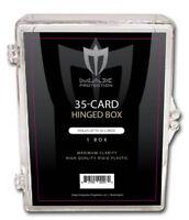 30 Max Pro 35ct Hinged Plastic Baseball Trading Card Boxes Ultra Clear Box