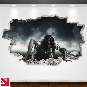HORROR ZOMBIE Wall Sticker Vinyl Decal Mural Poster HALLOWEEN