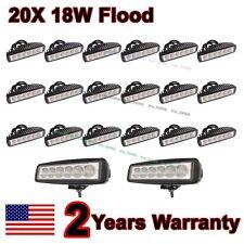 "20X 6"" inch 18W Flood LED Work  Fog Light Bar Truck Boat Driving Offroad SUV 4WD"