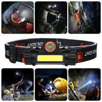 COB LED Headlamp USB Rechargeable Flashlight Mini Headlight head light Torch CHZ