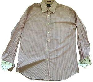 Paul Smith London Ls Shirt Rot Streifen Kontrast Manschette