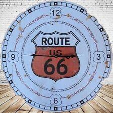 Wanduhr Route 66 Baterie Eisen vintage Geschenk Ästhetik Rarität ein Zeitzeuge