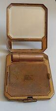 Poudrier vintage CORONA Paris en métal doré