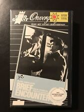 Brief Encounter Ex-Rental Vintage Big Box VHS Tape English with dutch subs