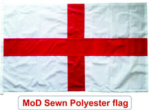 Traditionally sewn St George flag england MoD approved knitted polyester 5x3ft