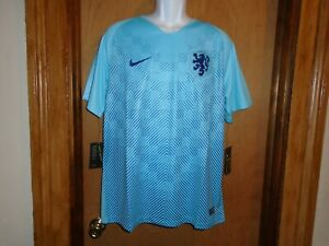 Netherlands National Team Soccer Nike Jersey Mens L 893881-483 Blue Dutch NWT