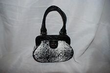 STUDIO GEAR BLACK & WHITE TWEED HANDBAG MINI EVENING BAG BITSY SIZE 7x5x2 NEW