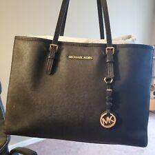 MICHAEL KORS BAG Black Leather Tote ORIGINAL Packaging