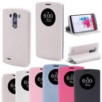 For LG G3 (2014) Slim Premium Flip Leather Magnetic Smart Circle Case Box Cover