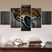 Jacksonville Jaguars Football 5 pcs Painting Printed Canvas Wall Art Home Decor
