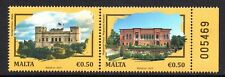 2019 Malta Joint Stamp Issue Romania Architecture Palaces Unmounted Mint