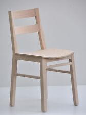 2x Stuhl Stühle CORA NEU modern leicht & stabil Holz Buche natur Holzsitz
