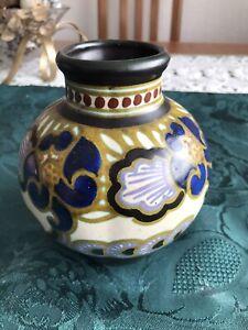 Petite Holland Gouda Hand Painted Vintage `Dimple` Vase