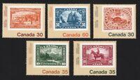 SOS = BLUENOSE, RCMP, BEAVER.. Toronto Exhibition = Canada 1982 #909-913 MNH