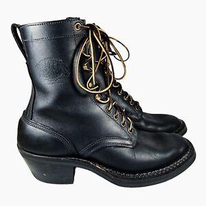 "White's Men's Smokejumper Explorer 10"" Logger Boots Vibram Spokane USA Size 8 E"