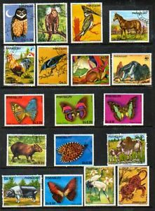 Paraguay - Topical Stamp Lot (No Gum) - Animals +