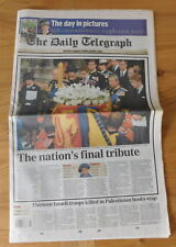 historic newspaper - Queen Mothers Funeral - Daily Telegraph - Wed 10 April 2002