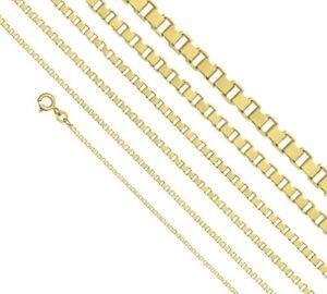 Veneziakette 585 Gold, Venezianer Kette L36-80cm (von 1mm bis 2mm)