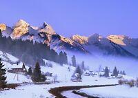 Einsiedelnt Mountain Poster Size A4 / A3 Switzerland Winter Poster Gift #12738