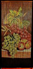 Bamboo Beaded Curtain Fruit Grapes Kitchen Door Way Room Divider 90 Strands