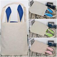 Easter Bunny Bag Hand-painted DIY Rabbit Ear Bag Candy Gift Bag Easter Supplies