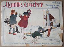 Aiguille & Crochet. - Vêtements de Sport pour Enfants. - Vintage.