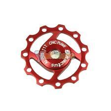 CNC Aluminium Jockey Wheel Rear Derailleur Stiff Pulley for SHIMANO SRAM 11T Red